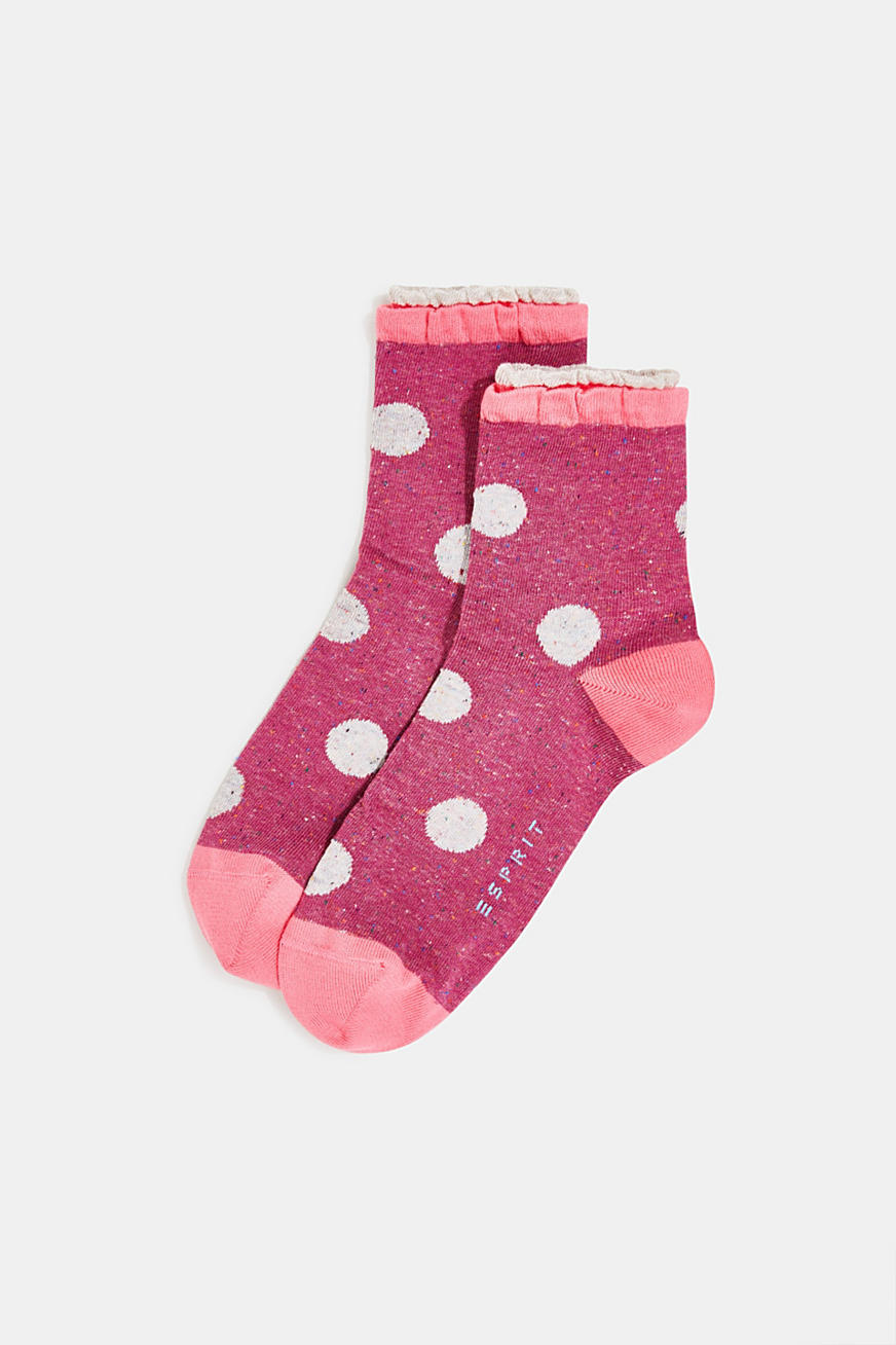 Double pack of socks with polka dots