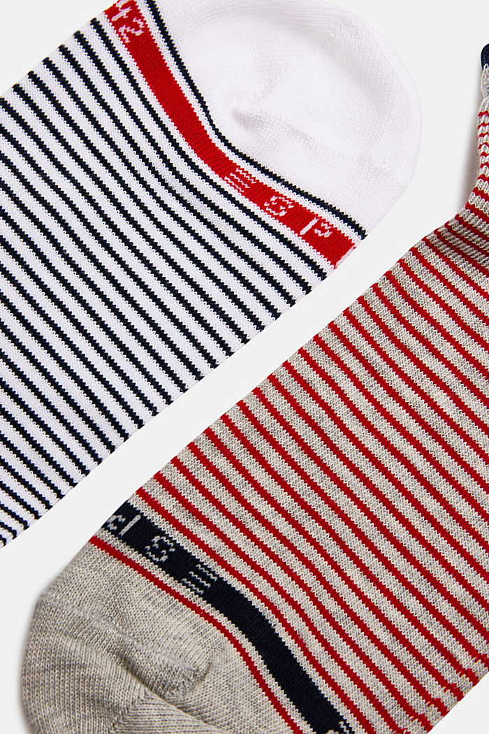 Double pack of socks with stripes
