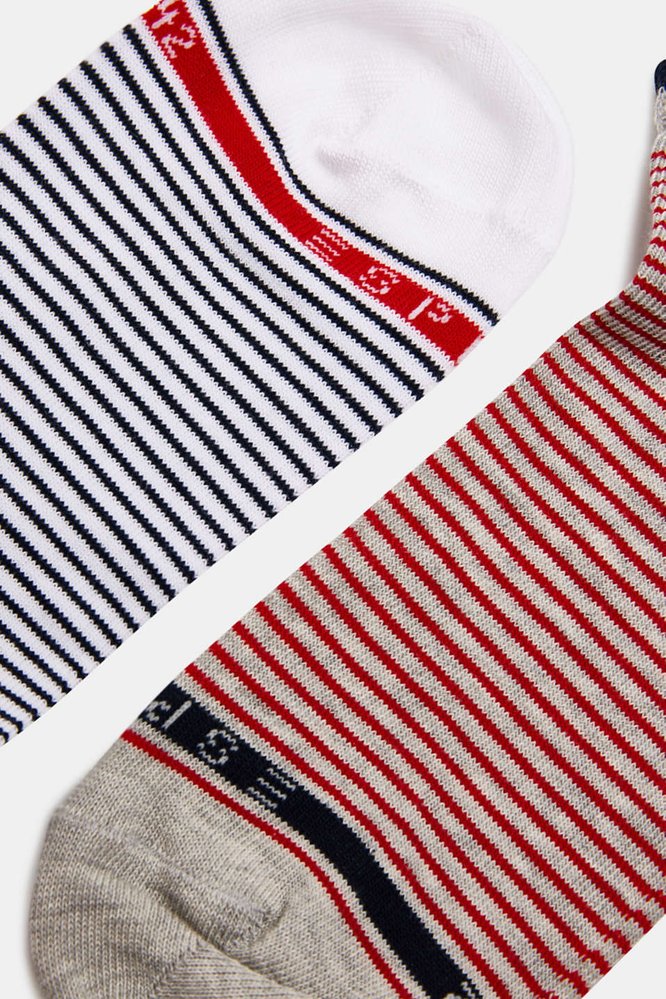 Double pack of socks with stripes, SORTIMENT, detail image number 1