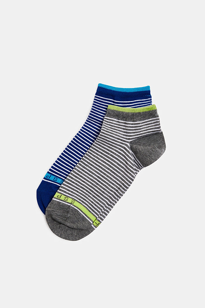 2er-Pack Socken mit Ringeln, GREY/NAVY, detail image number 0