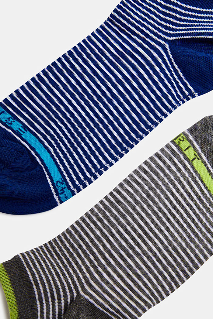 2er-Pack Socken mit Ringeln, GREY/NAVY, detail image number 1