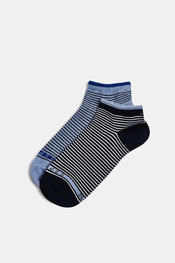 2er-Pack Socken mit Ringeln, BLACK/BLUE, detail image number 0