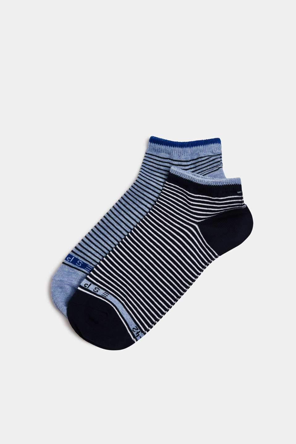 Double pack of socks with stripes, SORTIMENT, detail image number 0