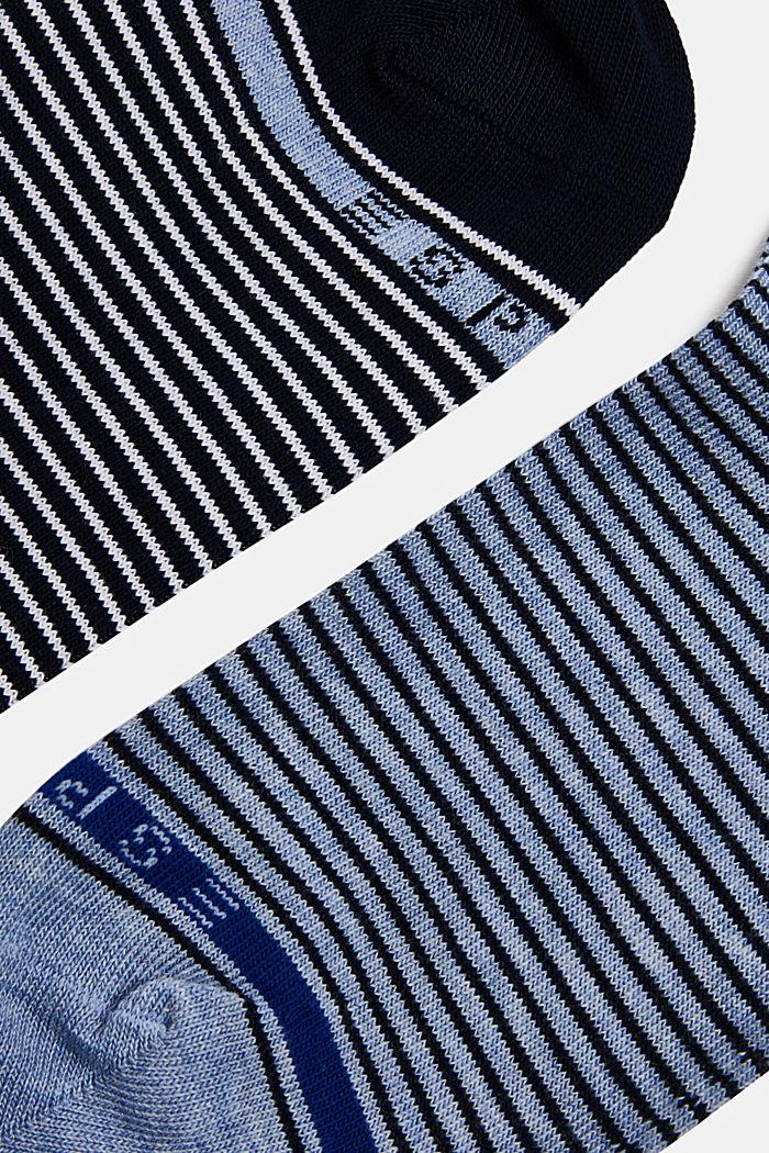 2er-Pack Socken mit Ringeln, BLACK/BLUE, detail image number 1