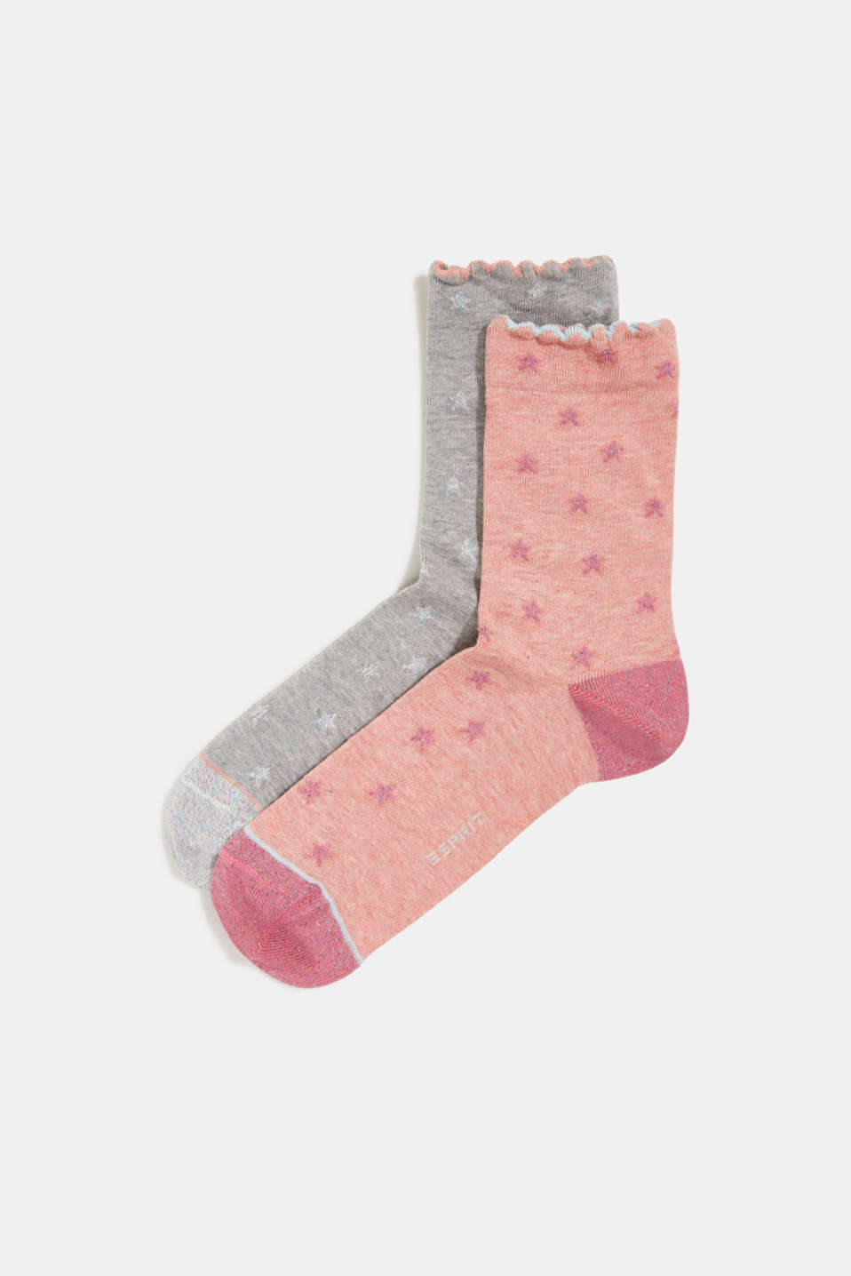 Esprit - 2-pack of socks with glitter details