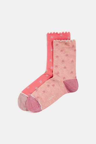 2-pack of socks with glitter details