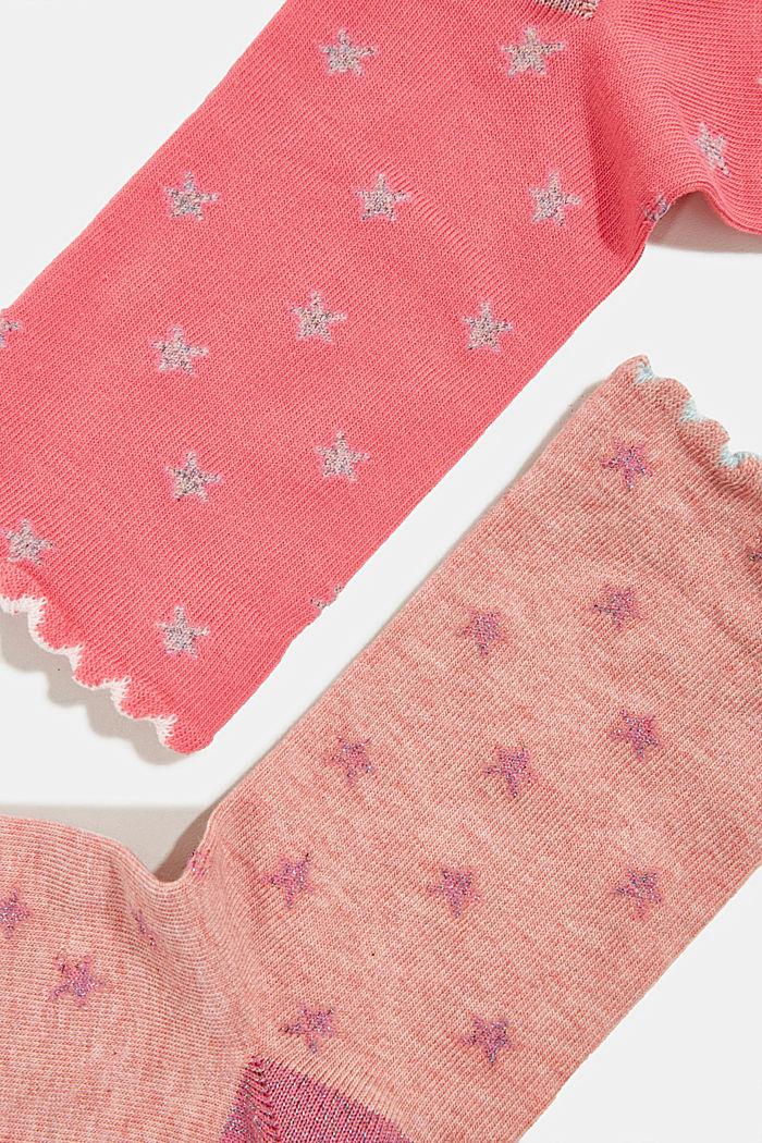 2er-Pack Socken mit Glitter-Details