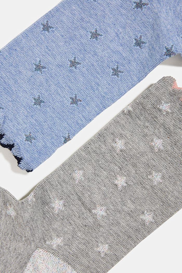2er-Pack Socken mit Glitter-Details, BLUE/GREY, detail image number 1