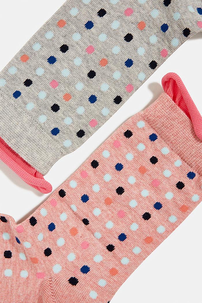 2er-Pack Socken mit Punkte-Muster