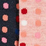 Double pack of socks with a polka dot pattern, SORTIMENT, swatch