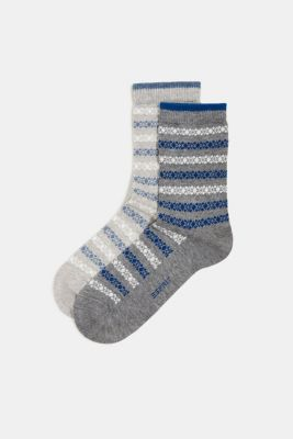 Double pack of socks with a striped pattern, SORTIMENT, detail
