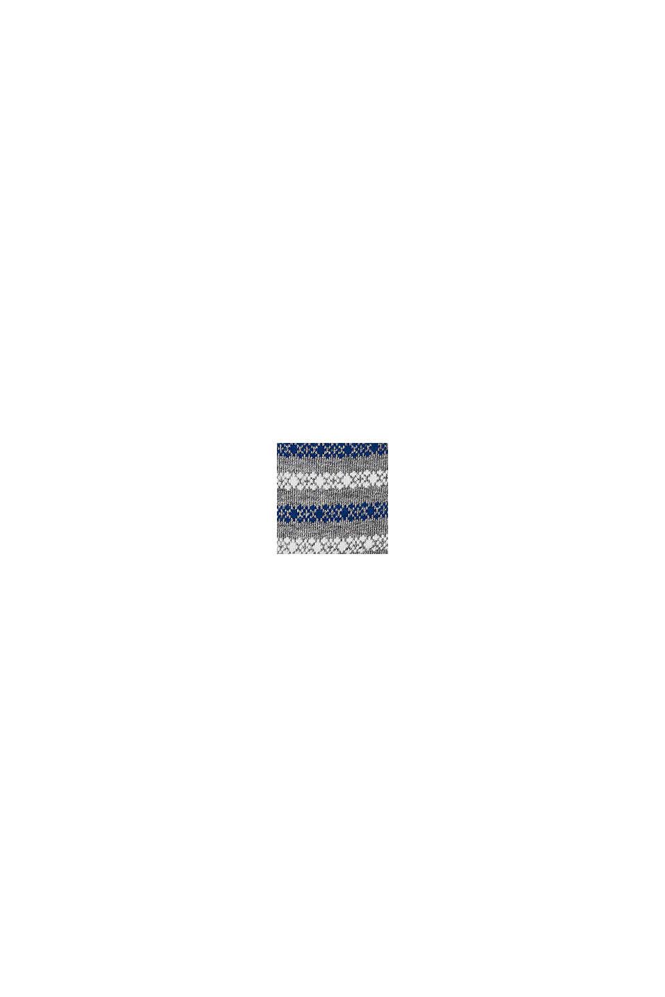 Strumpor i 2-pack med randmönster, BLUE/GREY, swatch