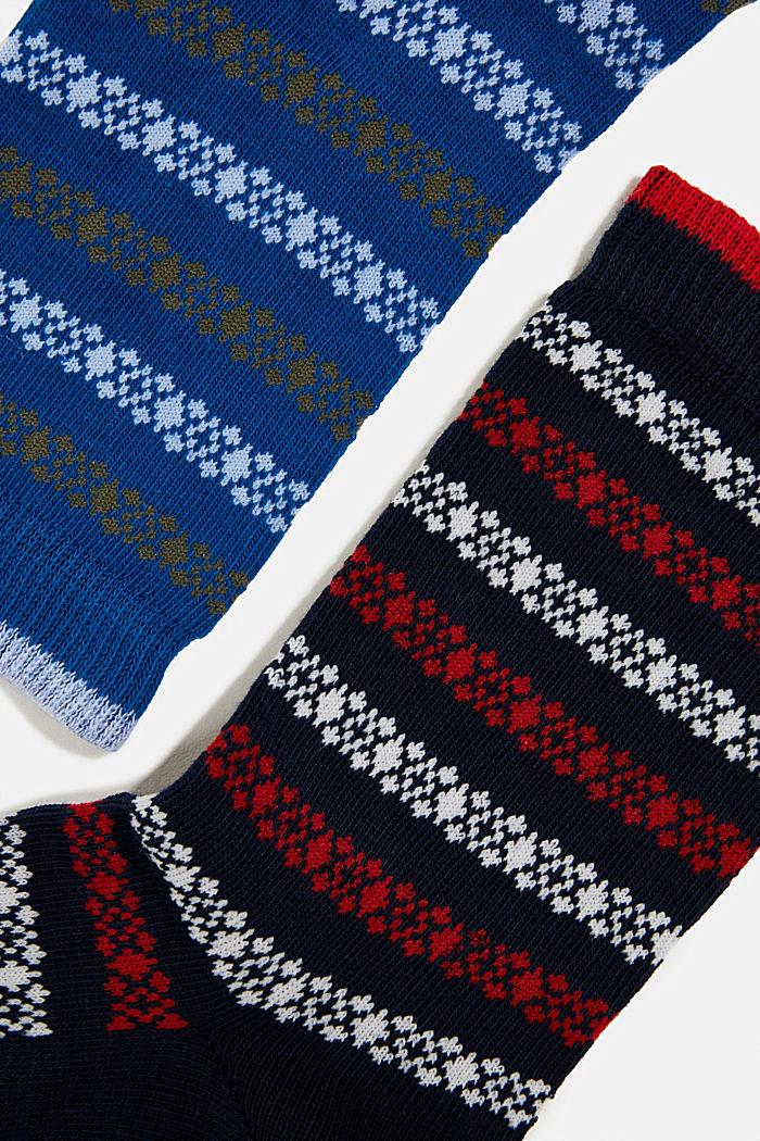 2er-Pack Socken mit Streifen-Muster, BLUE/NAVY, detail image number 1