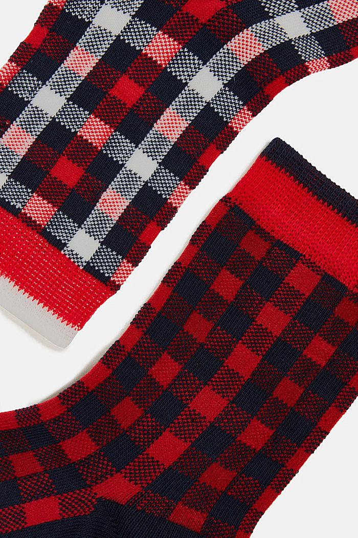 2er-Pack Socken mit Karo-Muster