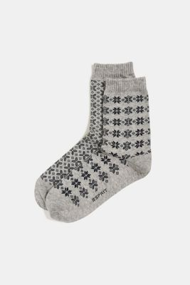 2-pack of patterned socks, LIGHT GREY, detail