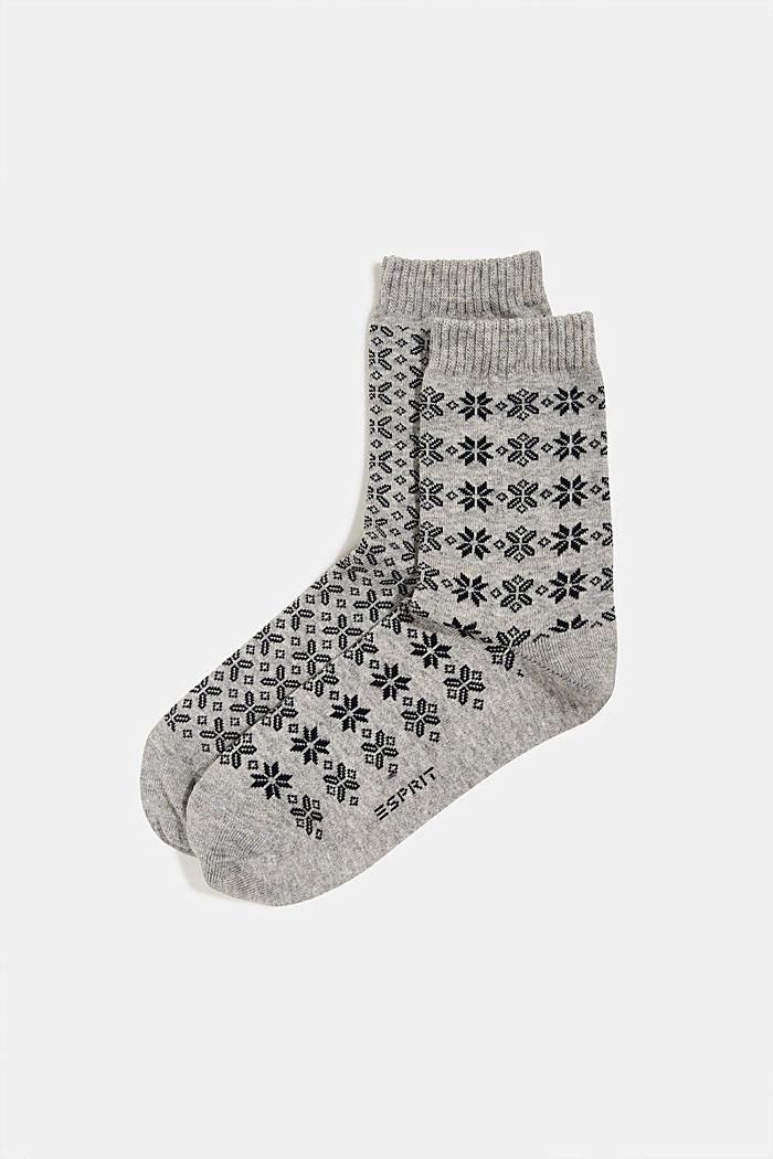 2er-Pack Socken mit Muster