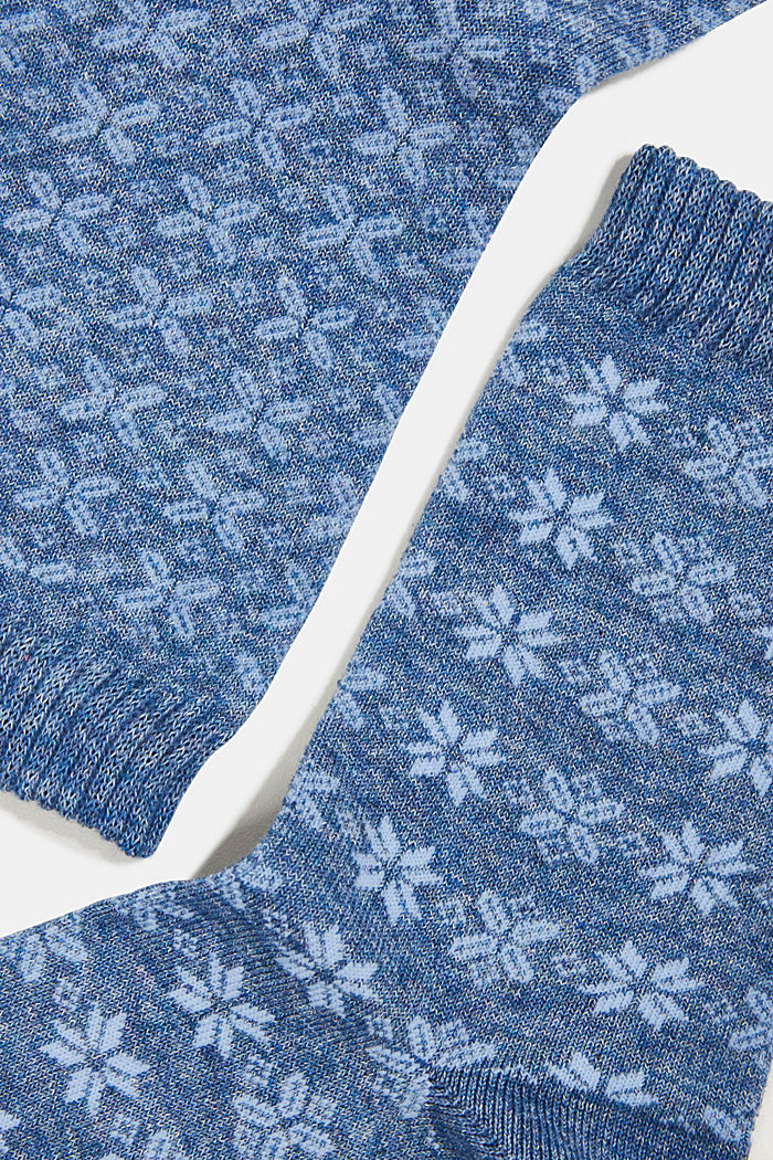 2er-Pack Socken mit Muster, SMOKY BLUE, detail image number 1