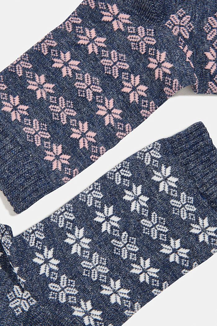 3er-Pack: Socken mit Strick-Muster