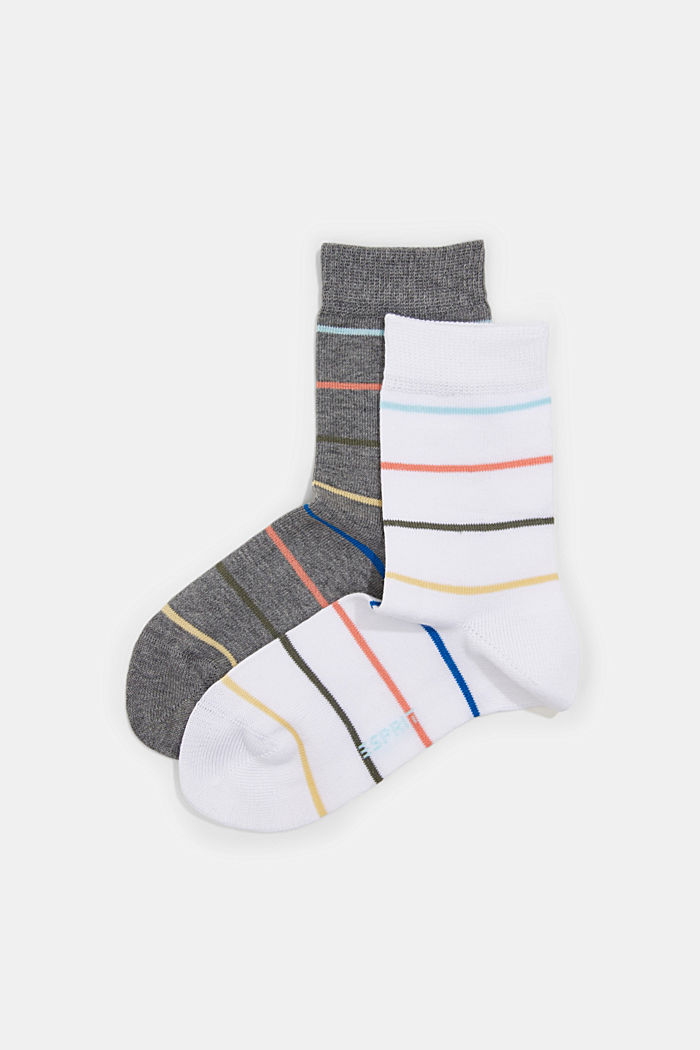 Lot de 2paires de chaussettes en coton mélangé