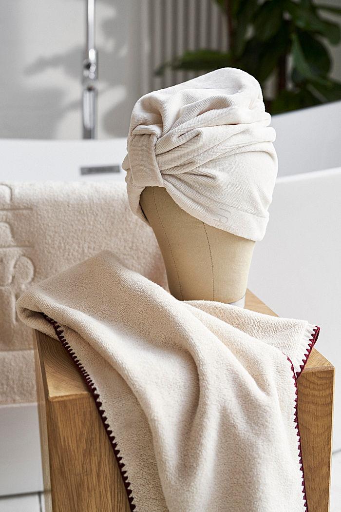 Turbante en 100% algodón, SAND, detail image number 2