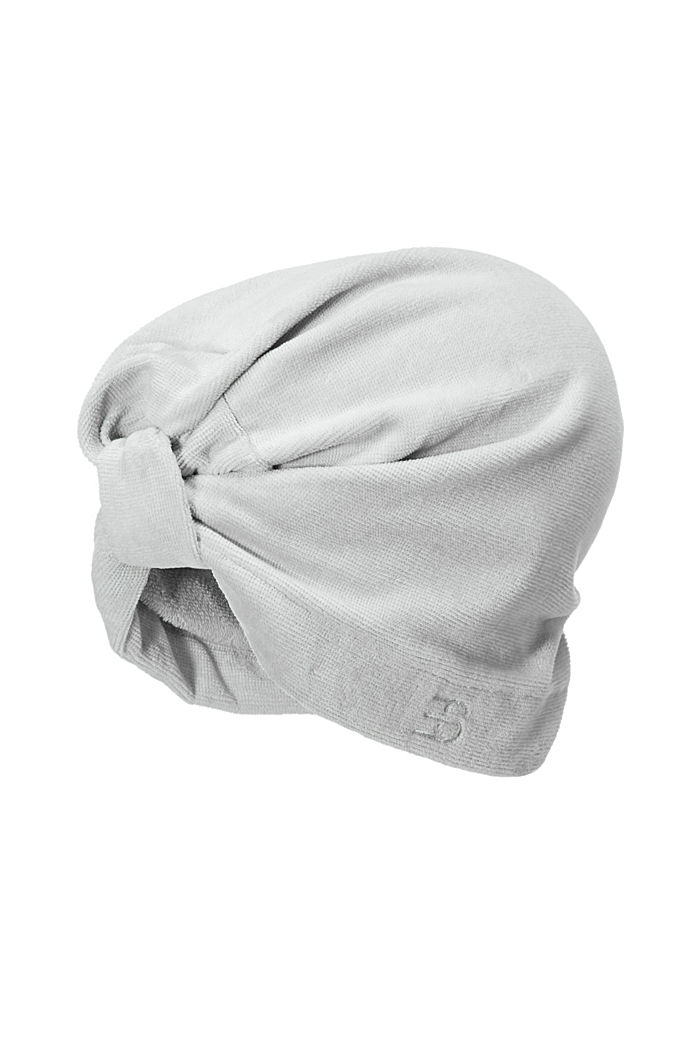 Turban i 100% bomull, STONE, detail image number 0