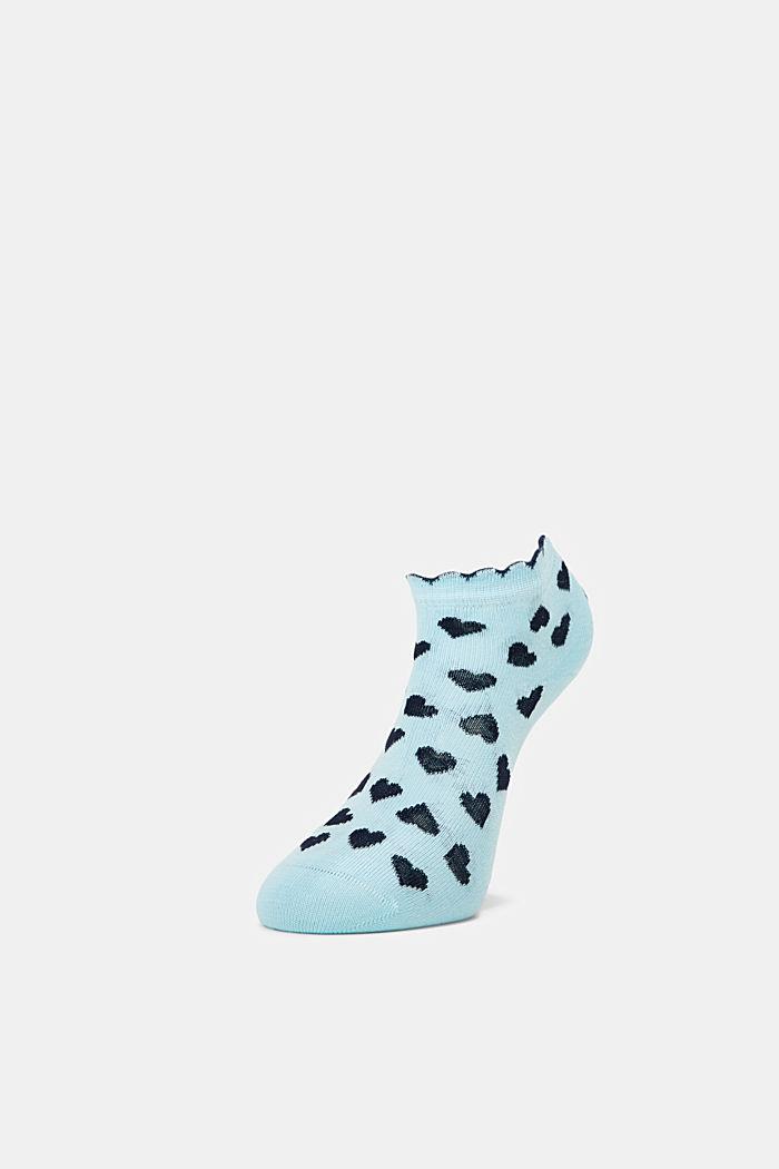 2er-Pack: Sneaker-Socken mit Herzen, BLUE/TURQUOISE, detail image number 2