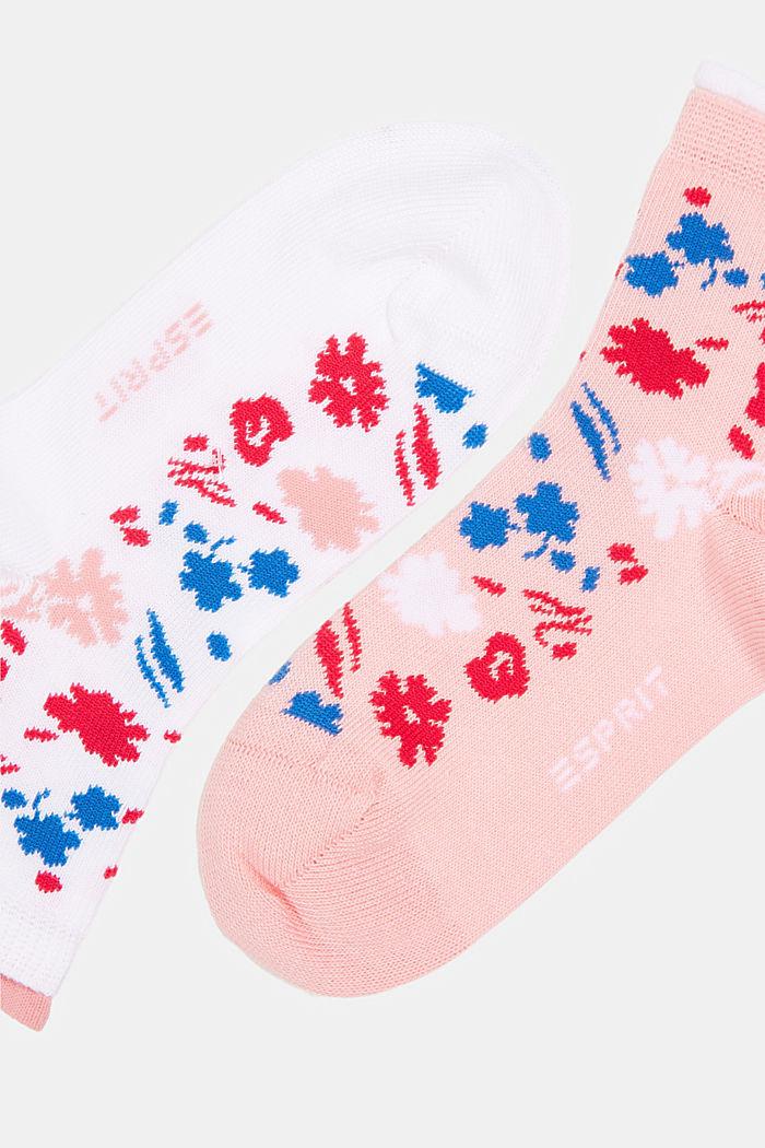 Lot de 2: socquettes à motif fleurs