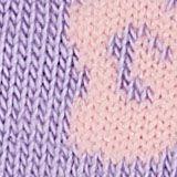 Lot de 2: socquettes à motif fleurs, LILAC/GREY, swatch
