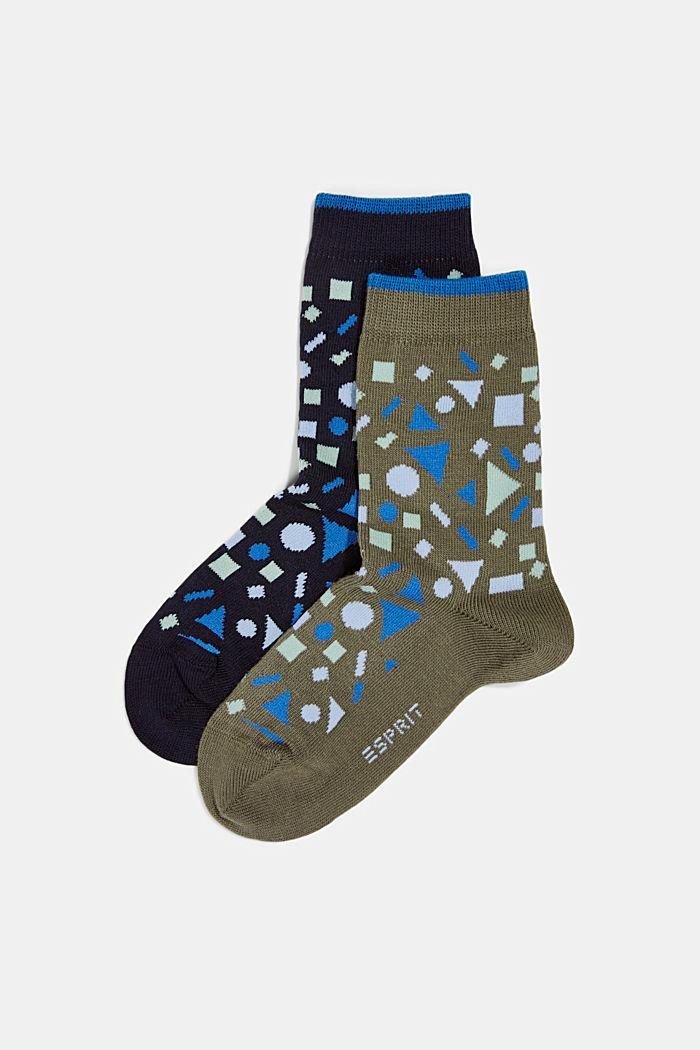 Lot de 2: les chaussettes à motif géométrique