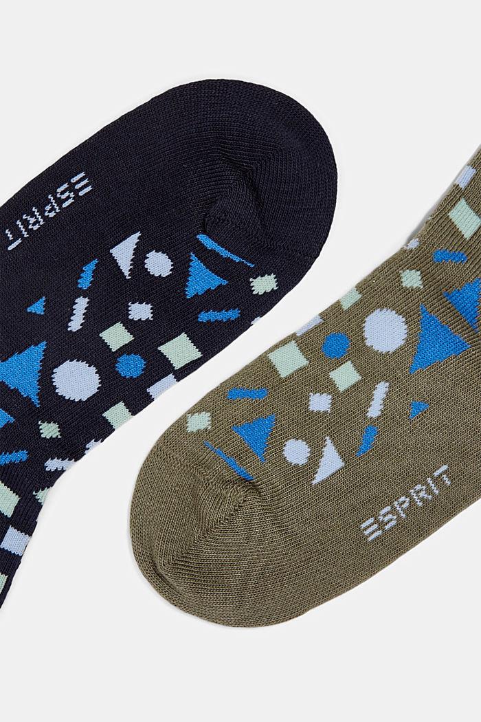 2er-Pack: Socken mit geometrischem Muster