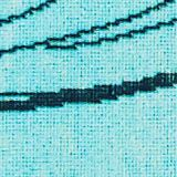 Beach towel with a ginkgo pattern, 100% cotton, TURQUOISE, swatch