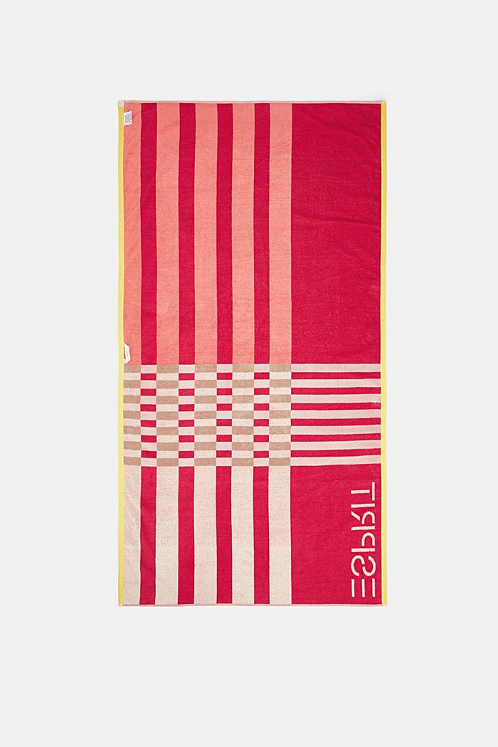 Ręcznik plażowy w 100% z bawełny, CORAL, detail image number 2