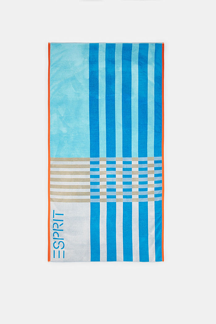 Beach towel made of 100% cotton, TURQUOISE, detail image number 4
