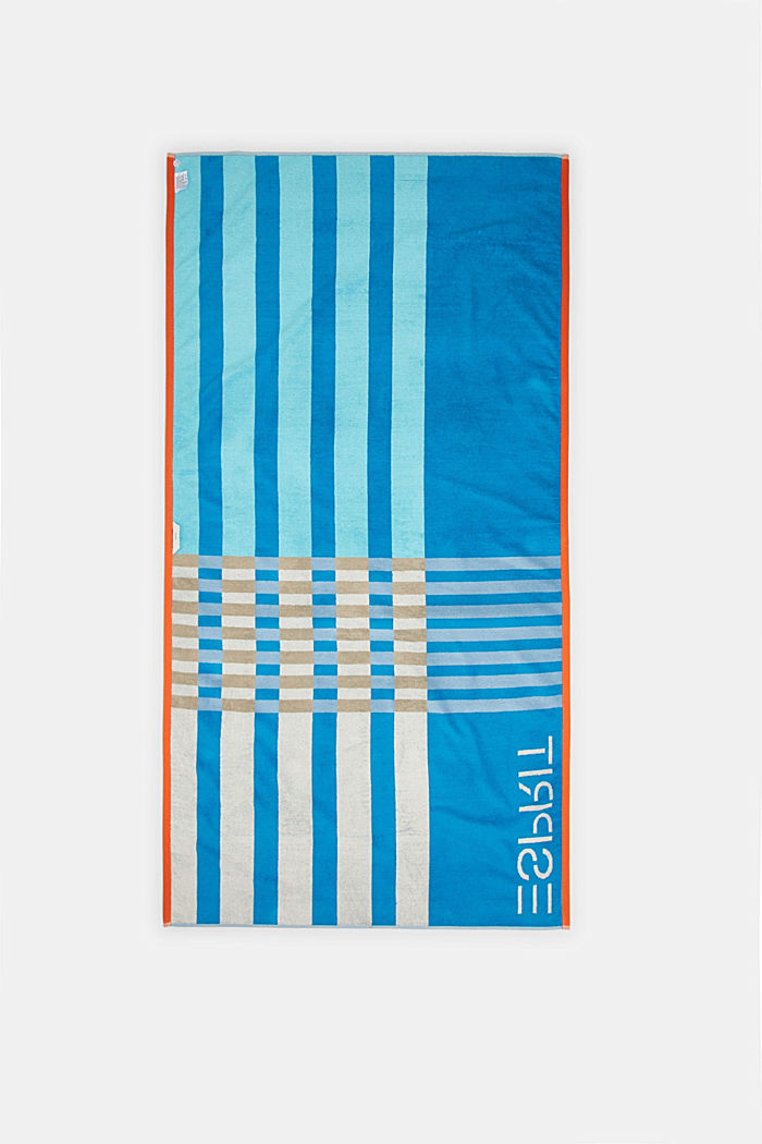 Beach towel made of 100% cotton, TURQUOISE, detail image number 2