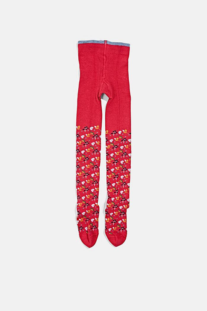 Stickade strumpbyxor i ekobomullsmix, RED, detail image number 0