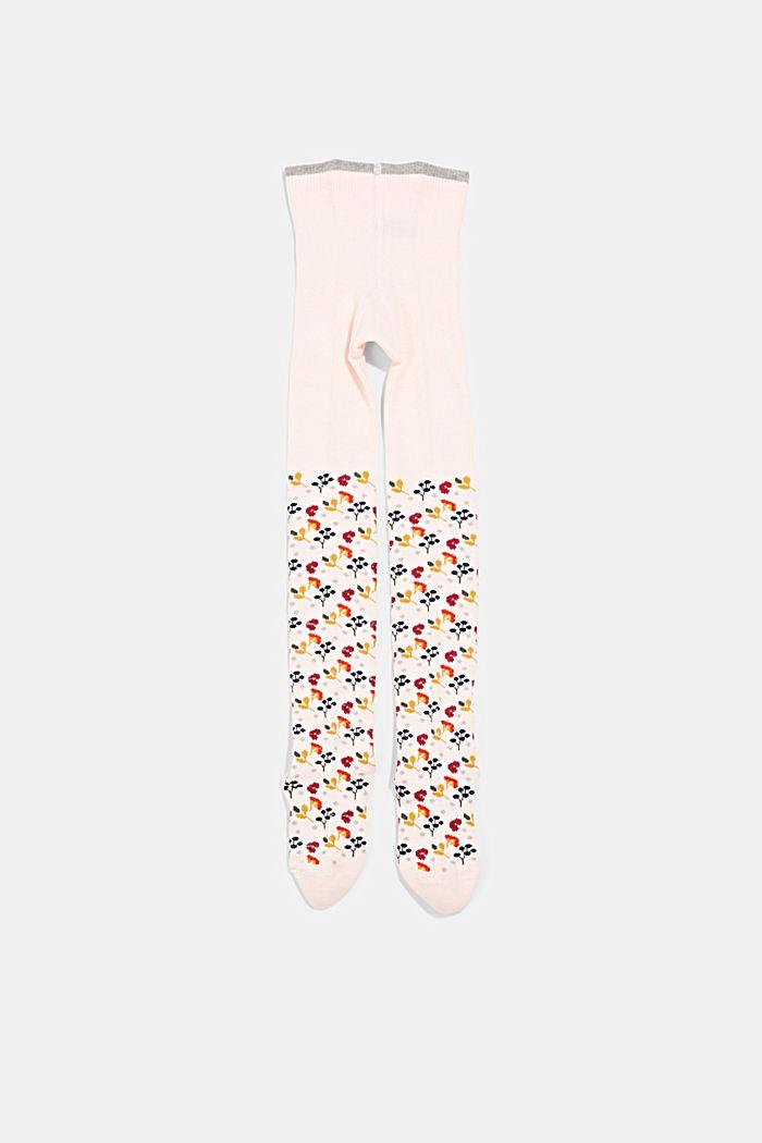 Pletené punčochové kalhoty ze směsi s bio bavlnou, ORCHID, detail image number 0