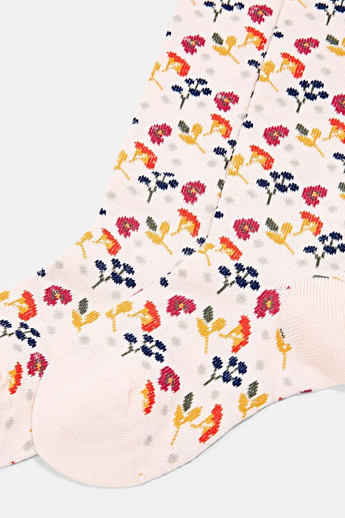 Pletené punčochové kalhoty ze směsi s bio bavlnou, ORCHID, detail image number 1