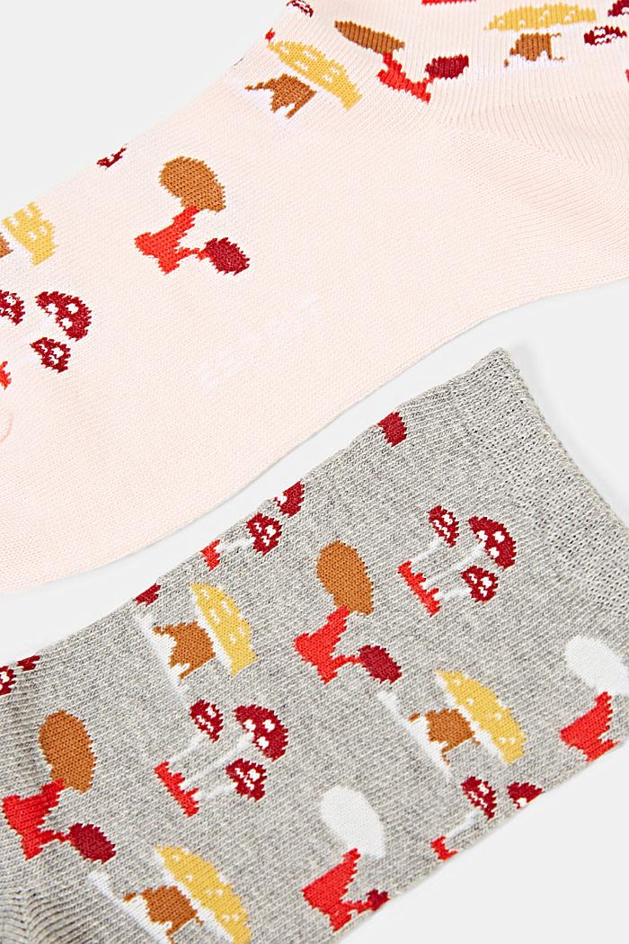Socks, ROSE/GREY, detail image number 1