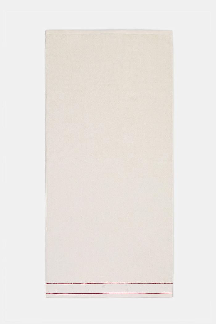Handtuch mit Sternen-Bordüre, 100% Baumwolle, IVORY, detail image number 3