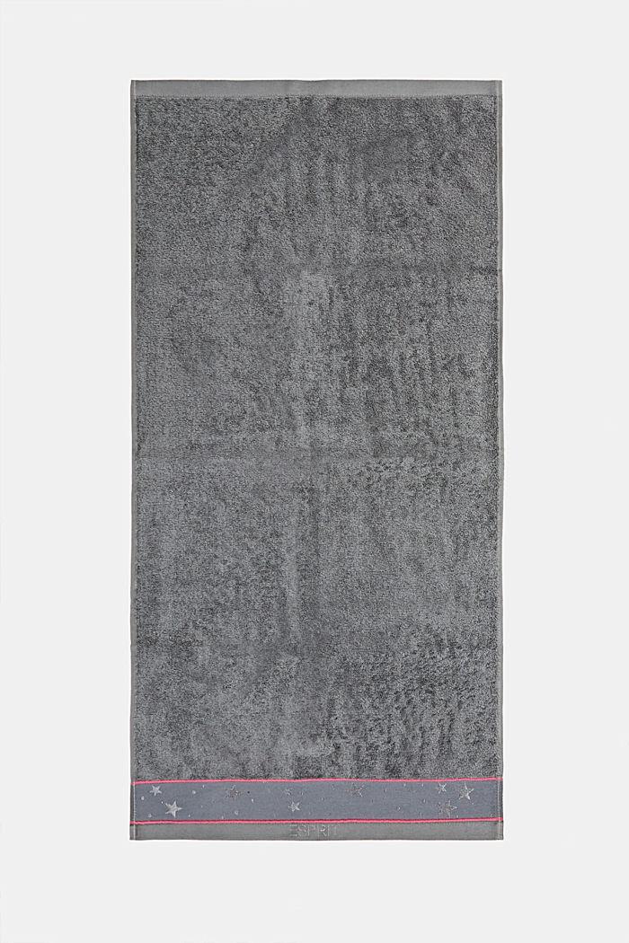Handtuch mit Sternen-Bordüre, 100% Baumwolle, ANTHRACITE, detail image number 3