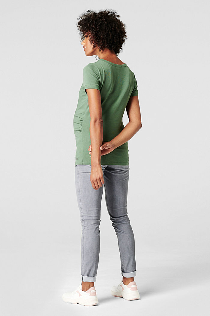 Print-Shirt mit Stickerei, Organic Cotton, VINYARD GREEN, detail image number 1