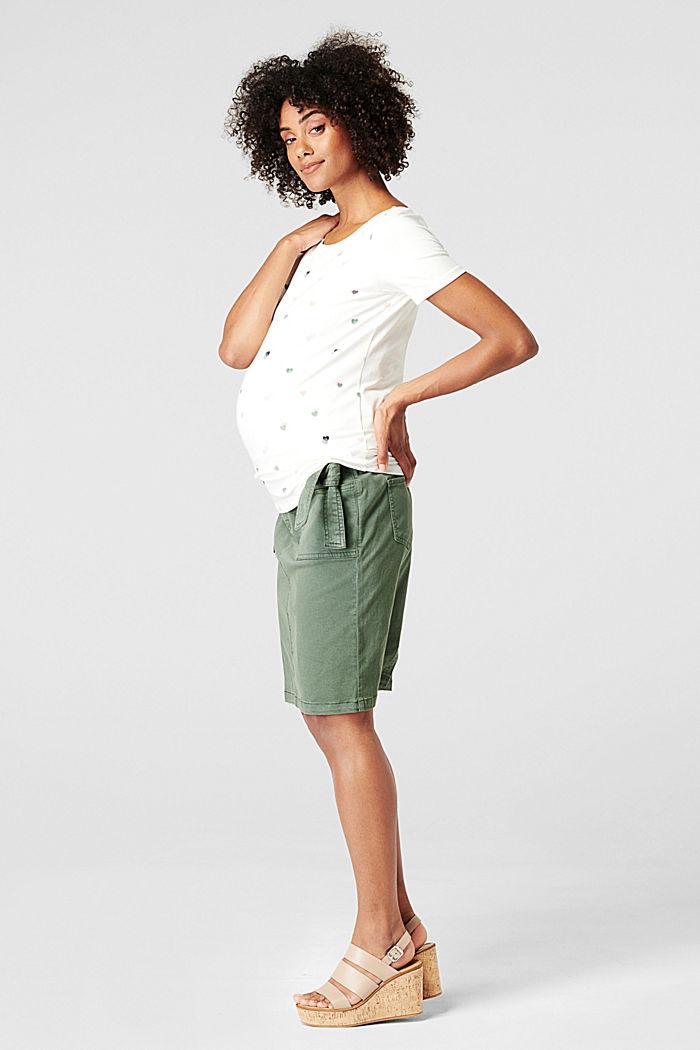 Print-Shirt aus Organic Cotton, OFF WHITE, detail image number 3