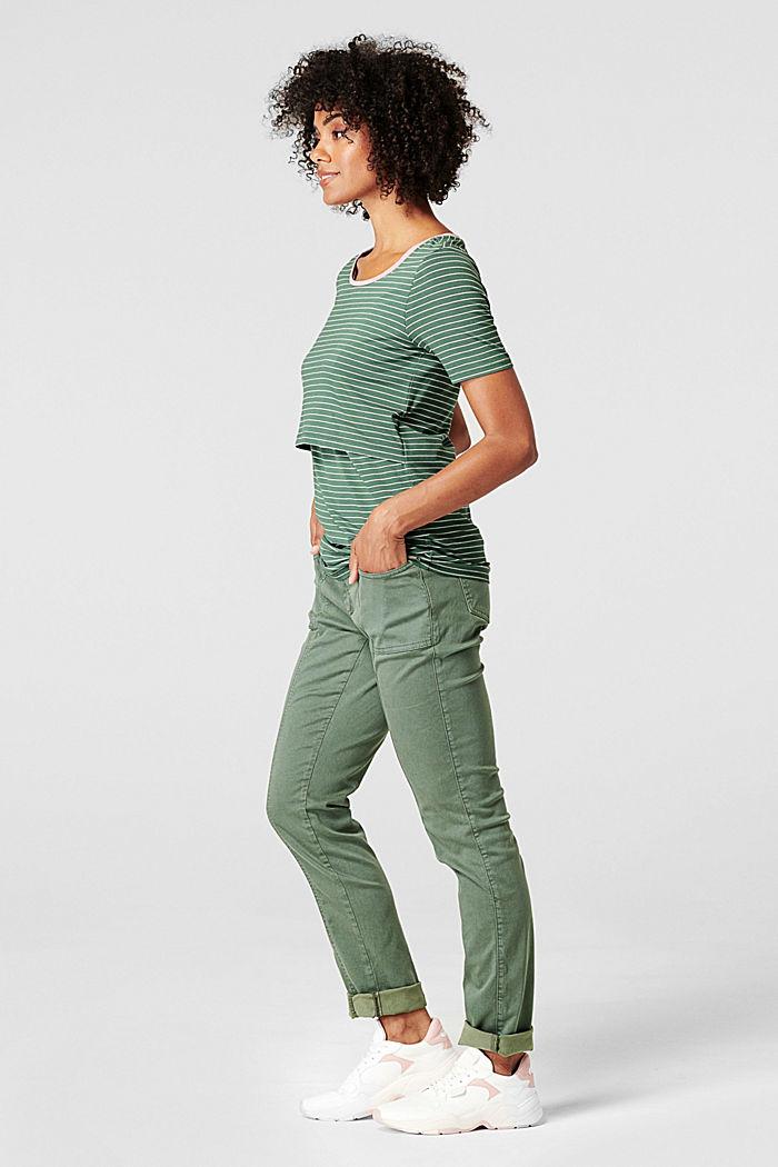 Koszulka z funkcją karmienia, LENZING™ ECOVERO™, VINYARD GREEN, detail image number 6