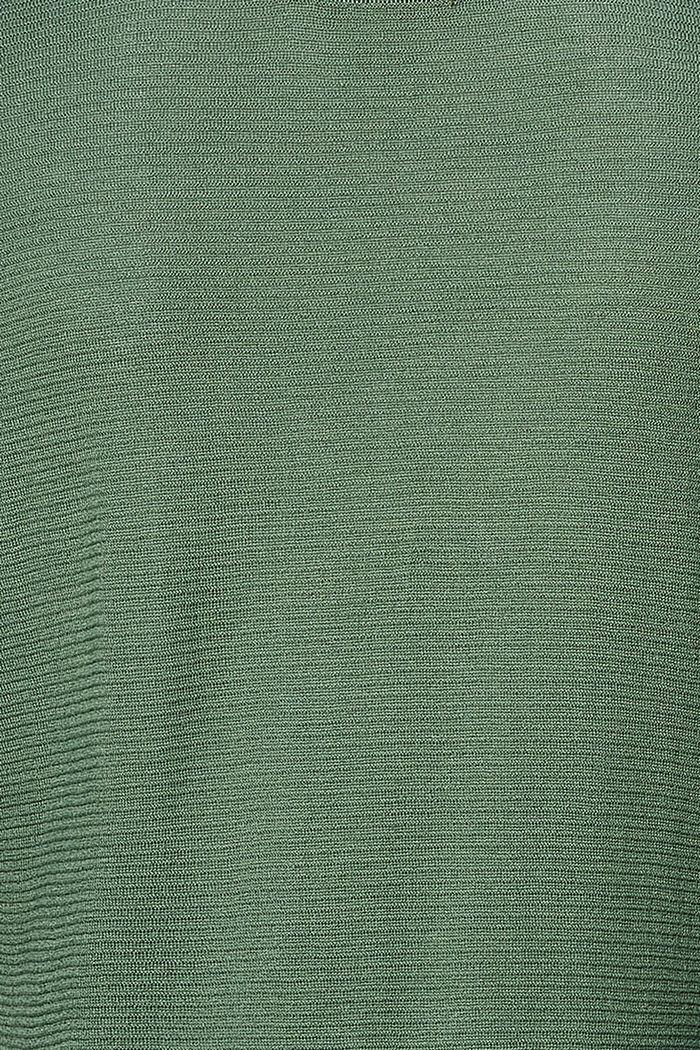 Feinstrick-Pullover mit Struktur, VINYARD GREEN, detail image number 1