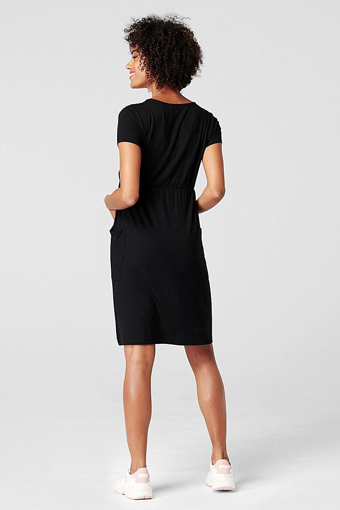 Kleid mit Stillfunktion, LENZING™ ECOVERO™, BLACK, detail image number 1