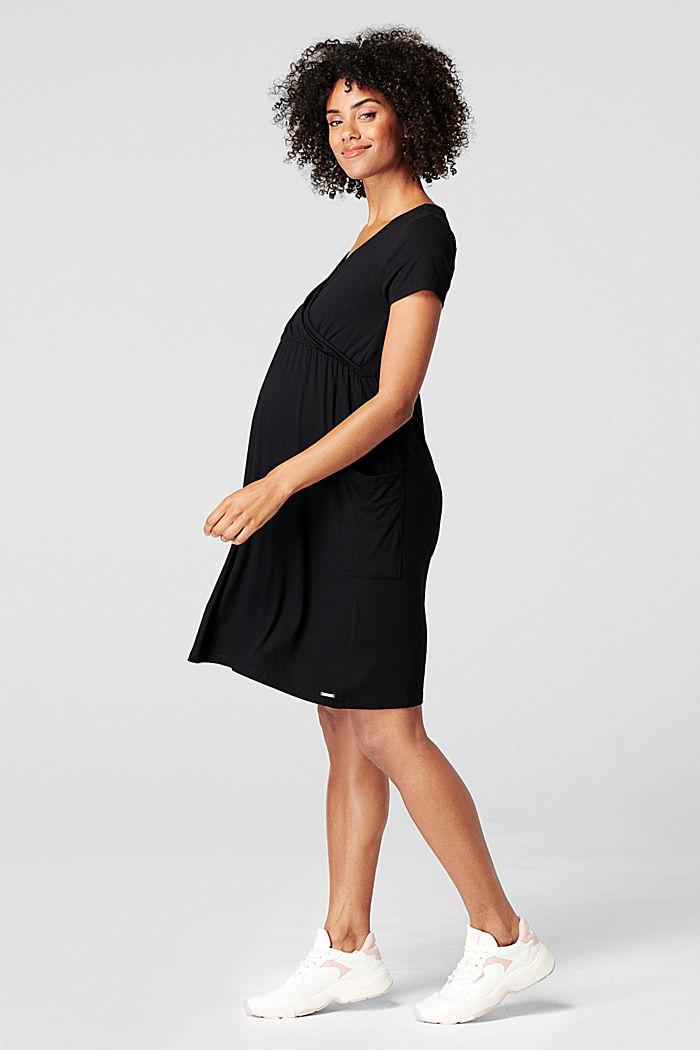 Kleid mit Stillfunktion, LENZING™ ECOVERO™, BLACK, detail image number 4