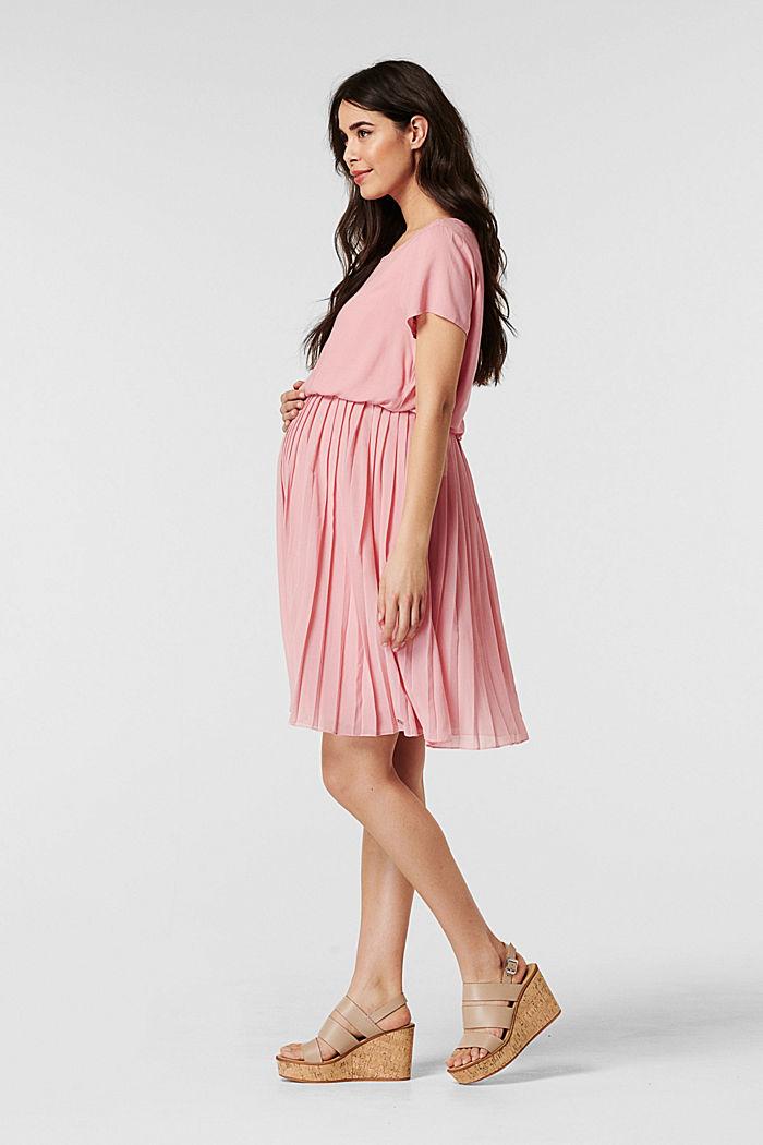 Plissee-Kleid mit Stillfunktion, ROSE BRICK, detail image number 4