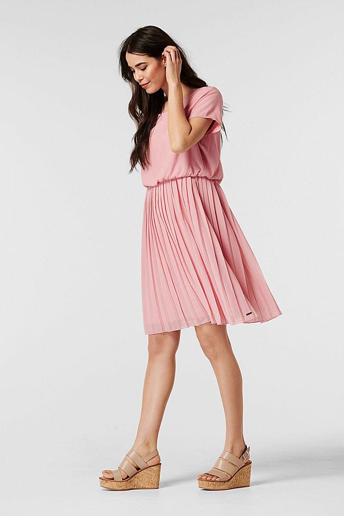 Geplisseerde jurk met voedingsfunctie, ROSE BRICK, detail image number 6