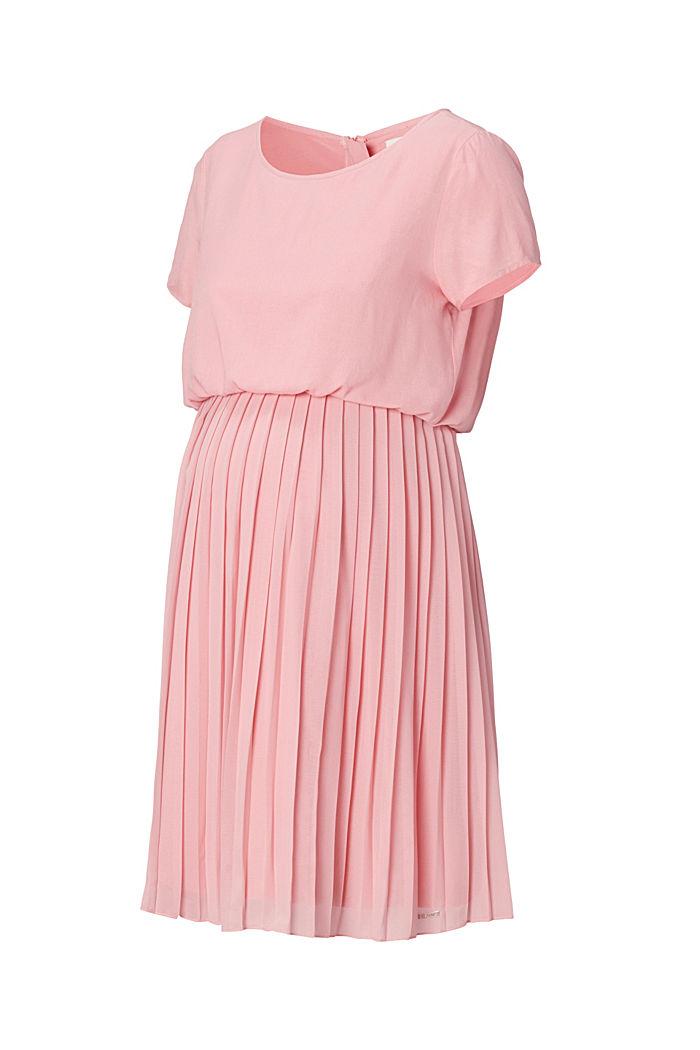 Plissee-Kleid mit Stillfunktion, ROSE BRICK, detail image number 5