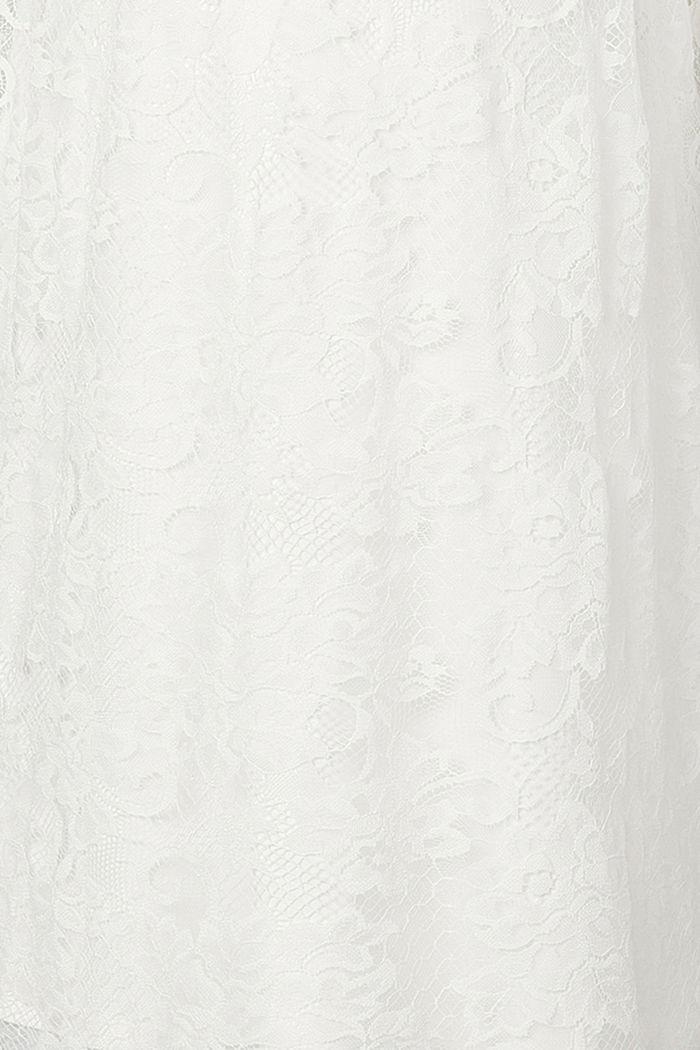 Florales Spitzenkleid mit Stretch, OFF WHITE, detail image number 2